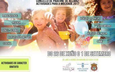 Concello Paderne De Allariz Actividades para a mocidade 2017.