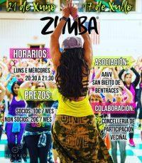 Actividad de Zumba Fitness en Bentraces.